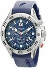 Nautica Men's N14555G NST Stainless Steel Watch with Blue Resin Band For Men
