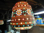VINTAGE LAWNWARE TIKI RV HANGING SWAG LIGHT RETRO FLOWERS PATIO CAMPING DECK