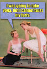 Try Yoga Nobleworks Funny Birthday Card Greeting Card by Nobleworks