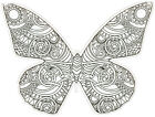 Butterfly Coloring Card Paper House Die Cut Blank Card