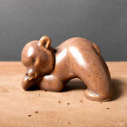 vintage bear figure sweden brown pottery retro swedish collectible mid century