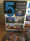500 Interloc 5 Deluxe Jigsaw Puzzles Pc 2500 Puzzle Connect Colored Coded Backs