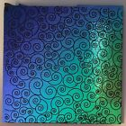 DICHROIC GLASS SPIRAL PATTERN 4 X 4 PIECE 90 COE Supply Fusing Fused BLACK BASE