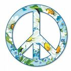 Peace Sign Flowers Daisies Car Vinyl Sticker SELECT SIZE