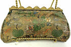 Vintage French Evening Bag Purse Silk Brocade Asian Design 'Jewels' France