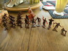 MARX 1960's 54mm Brown Japanese WWII Soldiers From Various Playsets