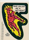 TOPPS 1976 MARVEL STICKER SINGLE CARD NEAR EX CONDITION THE HUMAN TORCH