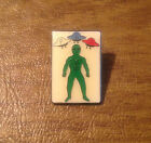 Independent Order of Odd Fellows IOOF Alien Pinback Pin with FLT in UFOs Above