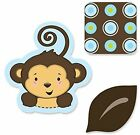 Monkey Boy DIY Shaped Party Paper Die Cut Outs Shapes 24 Count Praty Decorations