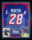 Curtis Martin Framed Jersey Signed JSA COA Autographed New England Patriots