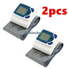 2pcs LCD Wrist Blood Pressure Monitor Heart Beat Rate Pulse Meter Measure Tester