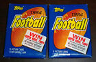 Vintage Lot of 2 1984 Topps Football Card Unopened Wax Packs