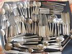 LOT Of 167 Pieces Vintage Antique SILVERPLATE FLATWARE Crafts/ Jewelry/Resell