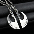 New Star Wars Han Solo Princess Leia I Love You I Know Couples Necklaces Set