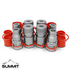 1 2 Flat Face Hydraulic Quick Connect Couplers Couplings Skidsteer Bobcat 4 Set