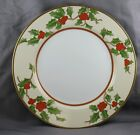 "Fitz & Floyd Christmas Holly Charger Chop Platter Sold Individually 12"" (A)"