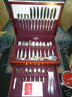91 Pieces Dinner set Cutlery Mobility plate Polished Silver In Original Chest