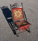 Antique Early 1900's Folding Sewing Rocking Chair