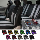 Car Seat Cover Set for Auto Airbag Compatible Split Bench w/Dash Pad