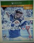 Madden NFL 17: Deluxe Edition (Microsoft Xbox One, 2016)Brand new factory sealed