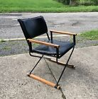 VINTAGE CLEO BALDON STYLE Wrought IRON CAMPAIGN Lounge CHAIR 1950s Weinberg