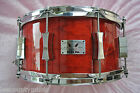 PORK PIE BLACK CHERRY LACQUER LITTLE SQUEALER 14X7 SNARE DRUM LOT T790
