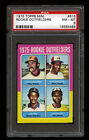 1975 TOPPS MINI BASEBALL #616 ROOKIE OUTFIELDERS RICE RC PSA 8 HOF TOUGH CARD