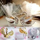 50Pcs Swan Candy Boxes Wedding Favors Gifts Box