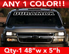 CHEVY  DURAMAX  DIESEL OUTLINE WINDSHIELD DECAL STICKER 48w x5h Any 1 Color