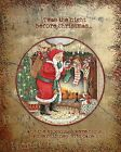 Primitive Santa Twas the Night Before Christmas Folk Art Print PRINT ONLY 8x10