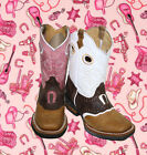 Cowboy Girl Boots youth sizes leather square toe rodeo boys western Best 4599