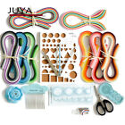 Juya Paper Qillling Kit with 3mm width 960 Strips Paper 10 Tools Blue Color