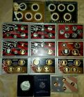 2007 2008 2009 US Mint Silver Proof Sets American Eagle Dollar 24k Gold Quarters