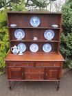 Early 1900 s Oak Barley Twist Kitchen Welsh Dresser Hutch Cupboard