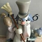 Lladro 5713 The Snow Man Original Grey Box! Glossy Finish! Mint Condition! L@@K!