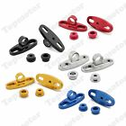 5 Color Motorcycle CNC Aluminum Rearview Mirror w/Fairing Adapters Holder Mount