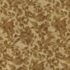 FUSIONS SILHOUETTE FOLIAGE BROWN ON TAN Cotton Fabric BTY Quilting Craft Etc