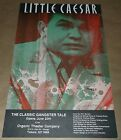 Little Caeser Classic Gangter Tale theatre die cut poster Art Chantry signed