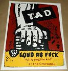 Tad Loud As F Engine Kid Crocodile Cafe Seattle poster Art Chantry signed