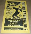 Thee Makeout Party Mannequin Davila 666 Slab City poster Art Chantry signed