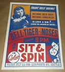 Bell Tiger The Noses Sit And Spin Seattle concert poster Art Chantry