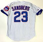RYNE SANDBERG 1993 CHICAGO CUBS AUTHENTIC RUSSELL ATHLETIC MLB HOME JERSEY 48