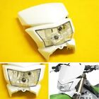 White Dirt Bike Motorcycle Headlight Fairing Enduro Cross Dual Sport Dirtbike OH