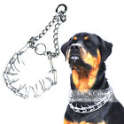 New Metal Steel Adjustable Dog Training Prong Pinch Choke Chain Spike Collar