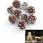 9x Pinecones Baubles Hanging Christmas Xmas Tree Holiday Decoration Pine Cone LT