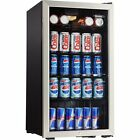 Mini Fridge Beverage Door Center Stainless Steel 120 Can Refrigerator 3.3 Cu Ft