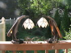 Antique Art and Craft Art Deco Rare Electric Hand Made Horn Table Lamp 15.5''