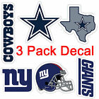 NEW NFL Team 3 Pack Decal stickers for ALL TEAMS FREE SHIPPING