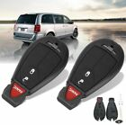 2x New DODGE RAM 2008-10 Uncut Car Key Fob Keyless Remote Control Grand Caravan