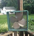 Vintage ESKIMO Turquois 3 Speed BOX FAN - Mid Century Works Great Free Shipping!